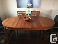 Beautiful dining room table and three dining room