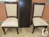 2 captain chairs and 4 regular chairs, ultra suede
