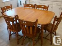 - Solid hardwood (maple, honey-gold coloured), colonial