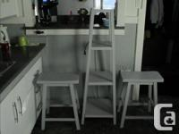 300.00 for white table and 4 Grey chairs (just re-done)