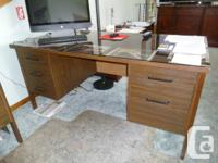 Workdesk and also matching credenza. Large dual