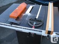 Rockwell Beaver table saw, incl. sharpened cutters,