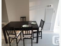 Brand new table with 4 chairs for sale. Table can be