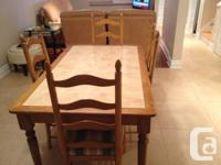 Should offer Dining table with 4 chairs. (Eating table