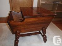 Solid Timber End Table, effectively made, top opens for