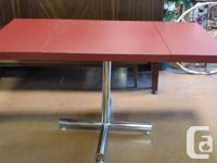 Cherry wood table with one leaf $150 Drop leaf red and for sale  British Columbia