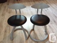Tabouret de cuisine en métal siège pivotant, de QUALIT�