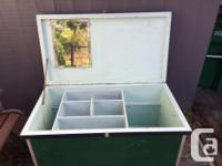 Wooden very well made tack trunk on casters with