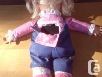 Talking Blonde Hair Doll Says: Find where I am ticklish