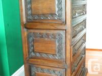Rustic Mexican-styled dresser with five large drawers