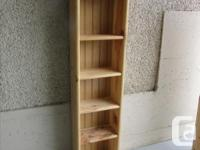 Solid wood bookcase 14.5 x 7.25 x 50.5 inches Perfect