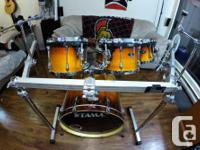 Tama Superstar Custom 6 piece drum kit with Star Cast