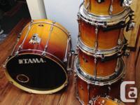 Tama Superstar Custom 6 piece drum kit. Used kit with