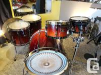 These are great sounding Birch drums in Dark Cherry