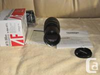 Like new, hardly used. Tamron AF 75-300mm f/4.0 -5.6 LD