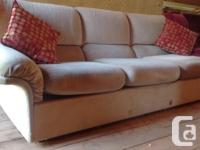 Tan Couch- Sturdy and comfortable. Gently used- perfect