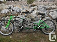 Very Comfortable tandem bike with many features. This