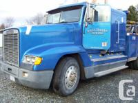 Make. Freightliner. Year. 1989. Colour. blue. kms.