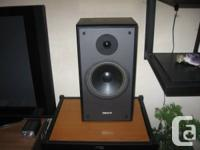 Excellent sounding speakers from Tannoy. Designed in