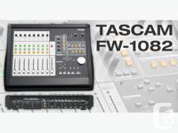 The TASCAM FW-1082 Audio/MIDI Interface and Control