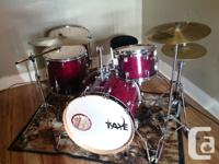I'm selling a Tour ready Taye Studio Maple Burgundy Red