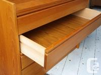Drawers open nicely and nice inside the drop front