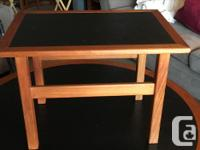 Custom made coffee table and 4 end tables. Solid teak