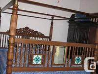 Lovely Four Poster bed with Cover. Provenance India.
