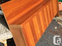 Teak veneer headboard for king or queen bed. This was