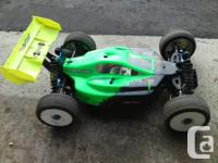 Team Associated RC8B-E 1/8th scale 4X4 buggy for sale.