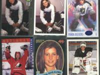 Lot of Women's hockey items: TV magazine from Feruary