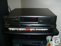 1. Technics SL-PD665 Compact Disc 5 CD Carousel Digital