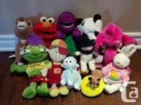 Various packages of 12-15 teddies / plush toys /