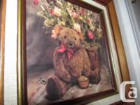 TEDDY BEAR PRINT IN WALNUT STRUCTURE $12. Charming