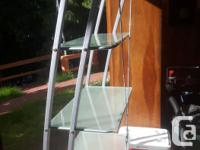 Six foot high display case made of welded steel and