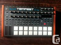TEMPEST analog drum machine and six voice polyphonic