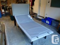 Single size adjustable bed frame with headboard and