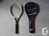 Tennis racket is in excellent condition. Hardly used.