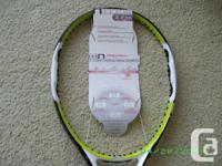 "Wilson graphite ""pro open"" model, mens   tennis"