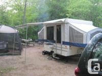 We are marketing our camping tent trailer. Made by