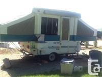 1998 viking tent trailer, sleeps 5,3 way fridge and