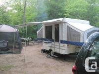 We have an excellent 8SD CampLite tent trailer for