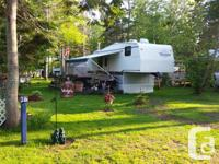 28 foot terry fifth wheel camper on site at k17 crystal