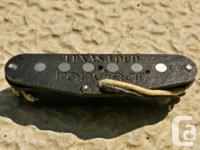 Hot single coil pickup intended for texas blues and SRV