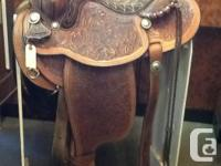 """15"""" Textan Hereford western saddle. Fully tooled, round"""