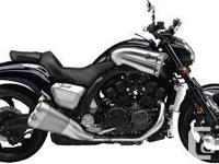 The remarkable 2013 Yamaha V Max 1700cc V-Four. Dark