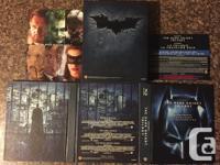 The Dark Knight trilogy bluray Boxset. Includes 5 discs