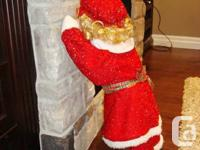 "Christmas 30"" Tall Time Out Gal Doll Dressed In Festive"