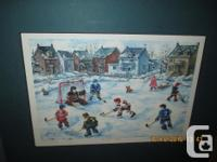 2 hockey prints, each measures 8in x 12in Signed by