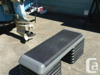 """A """"The Step aerobic stepper with 12-2"""" risers.This"""